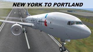 [FSX] LONG HAUL FLIGHT NEW YORK (KJFK) PORTLAND (KPDX) | AMERICAN AIRLINES  B777LR | IVAO LIVESTREAM