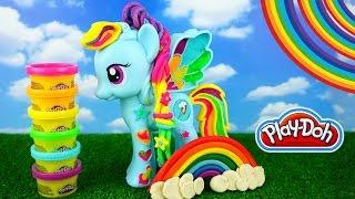 Play Doh Рейнбоу Деш из мультика Мой маленький пони Rainbow Dash My Little Pony. Как лепить