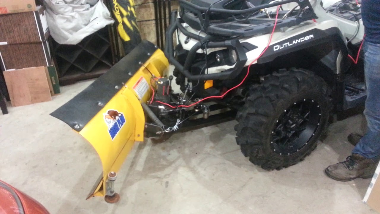 Right Angle Winch : Atv plow angle system using winch diy youtube