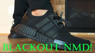 blackout adidas nmd boost custom tutorial