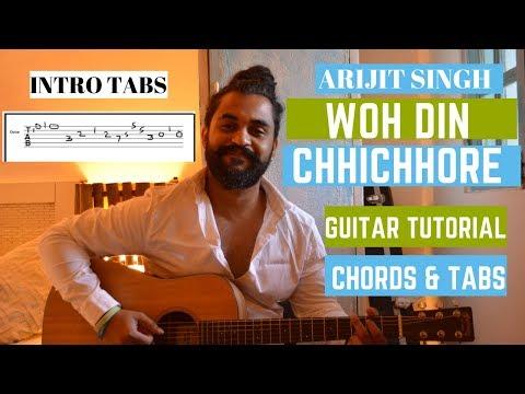Download Lagu  ARIJIT SINGH Version : Woh Din | Chhichhore | Guitar Tutorial/Lesson Mp3 Free