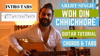 ARIJIT SINGH Version : Woh Din   Chhichhore   Guitar Tutorial/Lesson