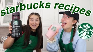 MAKING STARBUCKS DRINKS AT HOME (PINK DRINK, FRAPPUCCINO, ICED COFFEE)
