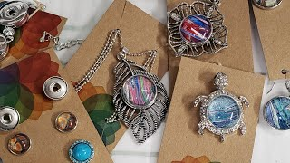 Making Snap Jewelry With Acrylic Skins - EASY DIY Jewelry