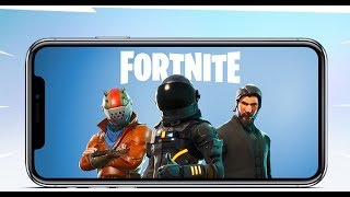 First Fortnite IOS Gameplay | +INVITE CODE IN DESCRIBTION+| Hard to Play | IPhone X