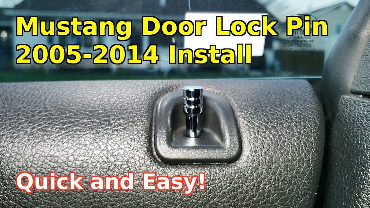 How To Easily Install Change Replace Door Lock Pin Ford Mustang Car 2005 2014 Diy Youtube
