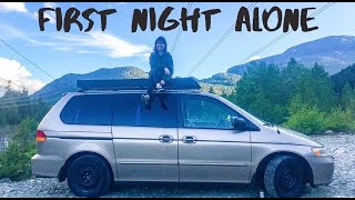 SOLO Female VAN Life || First Night Alone + Redwood Park Vlog