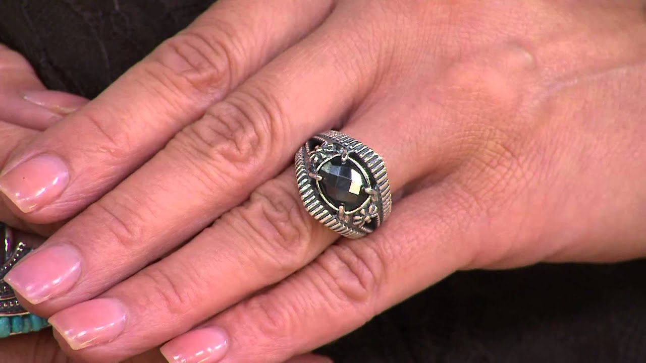 Jennifer Nettles Sterling Silver Faceted Hematite Ring with Nancy ...