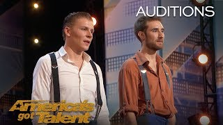 Jules & Jerome: Duo Flies Dangerously High Above Stage - America's Got Talent 2018