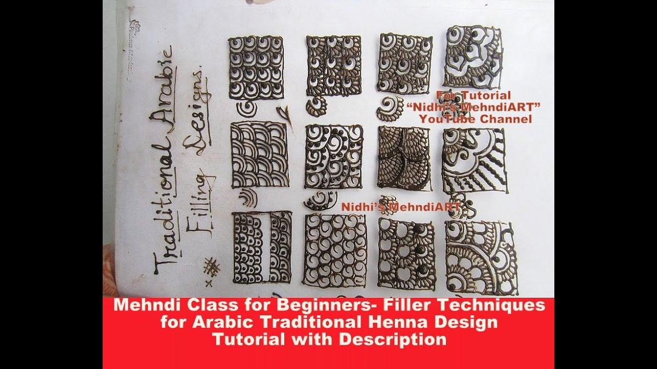 Bridal Mehndi Training : Mehndi class for beginners filler techniques arabic design