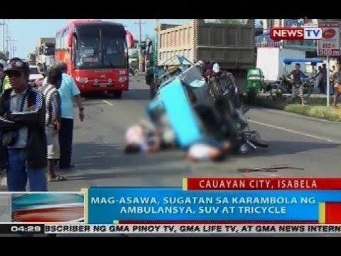 BP: Mag-asawa, sugatan sa karambola ng ambulansya, SUV at tricycle