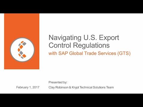 [Webinar] Navigating U.S. Export Control Regulations with SAP GTS