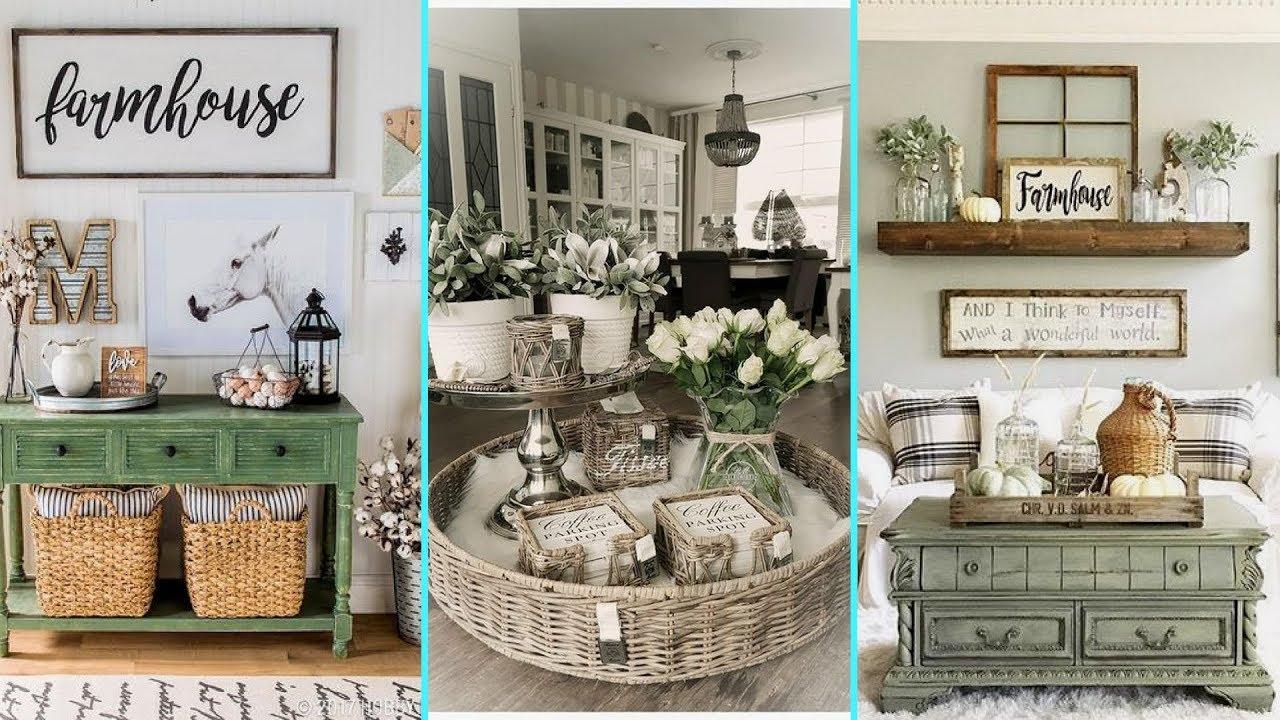 DIY Rustic Shabby Chic Style Farmhouse Decor Ideas