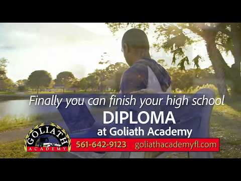 Earn your accredited High School Diploma at Goliath Academy!