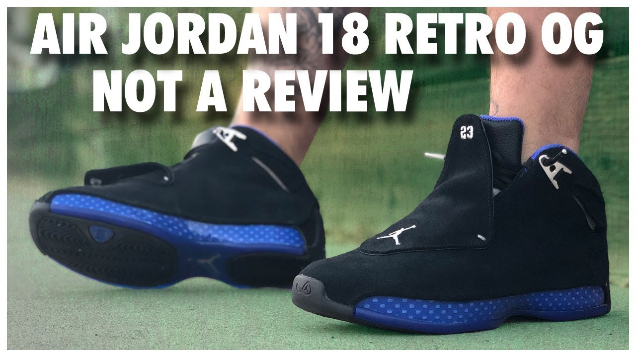 52fde70f430796 Air Jordan 18 Retro OG Black Royal