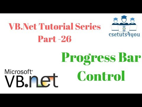 VB.Net Tutorial Series Part  26 Progress Bar Control
