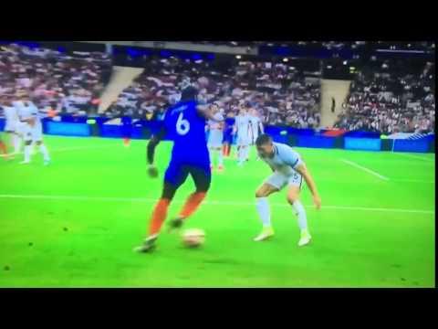 Paul Pogba incredible skill destroys Gary Cahill during France v England