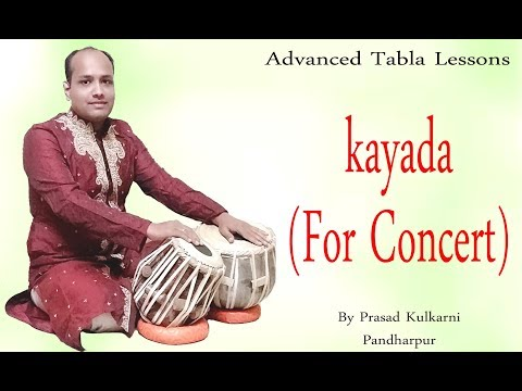 Tabla Lesson #45-(New Kayada To Play In Concerts)