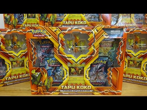 Opening 11 Tapu Koko Figure Collection Boxes