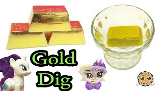Surprise Dig It Digging 3 Gold Bars In Water with My Little Pony - Cookie Swirl C Video