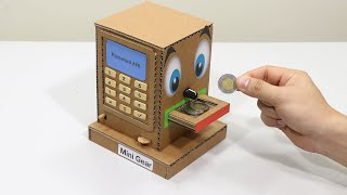Build Personal Coin BOX Saving Machine Design as ATM