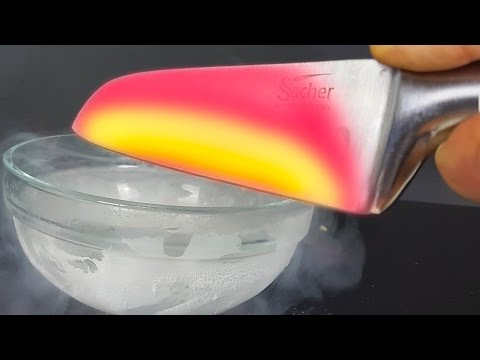 Thumbnail: EXPERIMENT Glowing 1000 degree KNIFE VS LIQUID NITROGEN