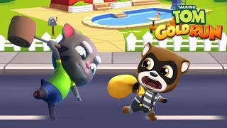 Talking Tom Gold Run ipad Gameplay - Talking Tom vs Raccoon Robber 2018
