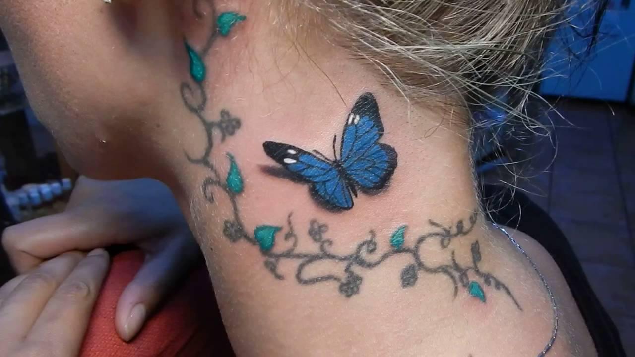 Tatuaje De Mariposa En 3d En Color Youtube - Mariposas-tatuaje