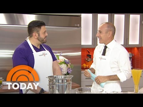 Adam Richman Bakes Up A Spaghetti Pie: 'Family Dinner Dream' | TODAY