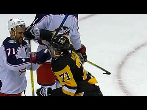 Gotta See It: Malkin gets frustrated by Foligno, throws first punch to start fight