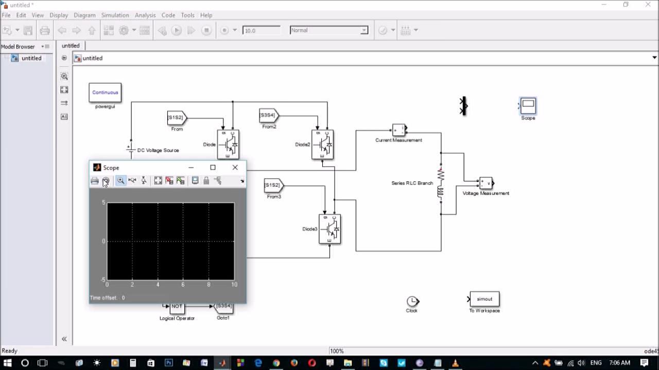MATLAB/Simulink Based Single Phase Full -Bridge Inverter
