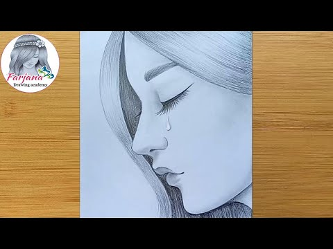 how-to-draw-a-sad-girl---step-by-step-/-pencil-sketch