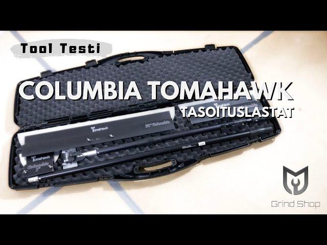 Seinän tasoitus Columbia Tomahawk -tasoituslastoilla sekä Tikkurila Presto ALR -tasoitteella.