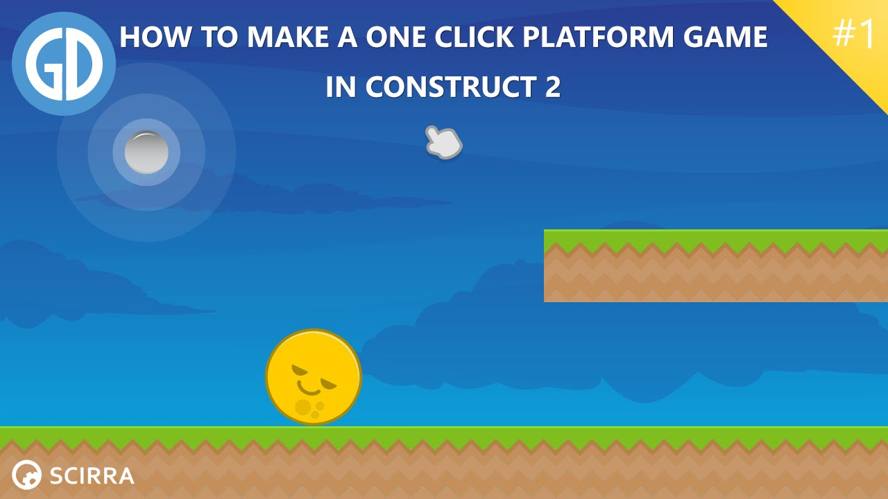 1 How To Make A One Click Platform Game Construct 2 Tutorial Youtube