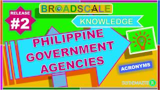 Philippine Government Agencies Acronym_Release # 2