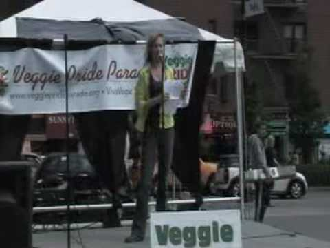 Kathy Stevens, founder/director Catskill Animal Sanctuary at Veggie Pride  Parade NYC 2010