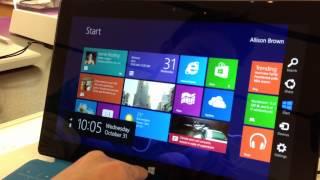 Demo; New Microsoft Surface Tablet & Windows 8 RT!