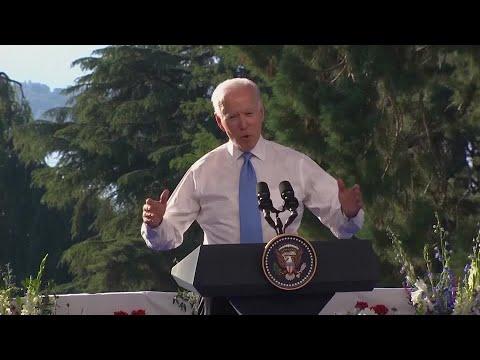 President Joe Biden says Russian President Vladimir Putin no