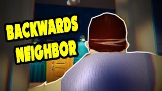THE NEIGHBOR TAKE ON THE BACKWARDS CHALLENGE - Hello Neighbor Mod