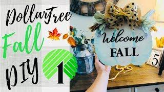 FALL DOLLAR TREE DIY | FARMHOUSE DECOR | EASY CRAFTS