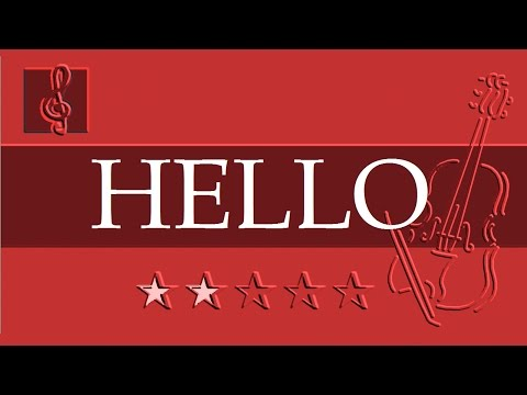 Violin & Guitar Duet - OMFG - Hello (Sheet music - Guitar chords)