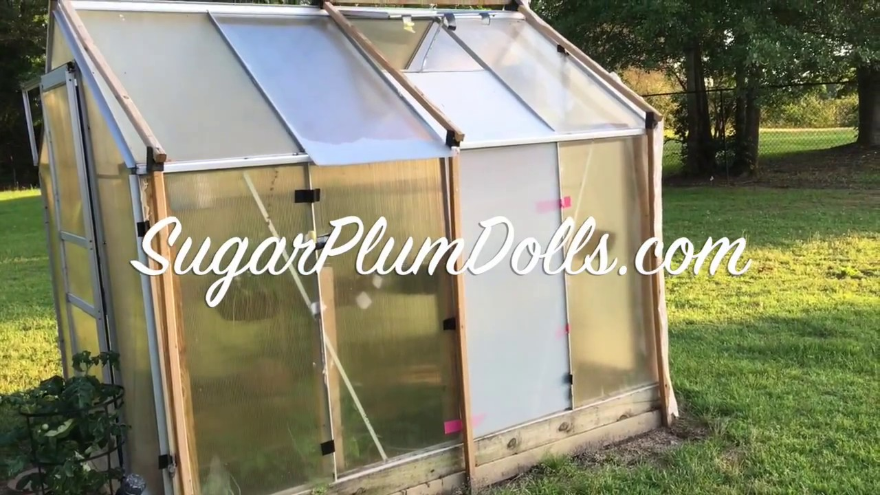 My Harbor Freight Greenhouse Replacement Panels Update