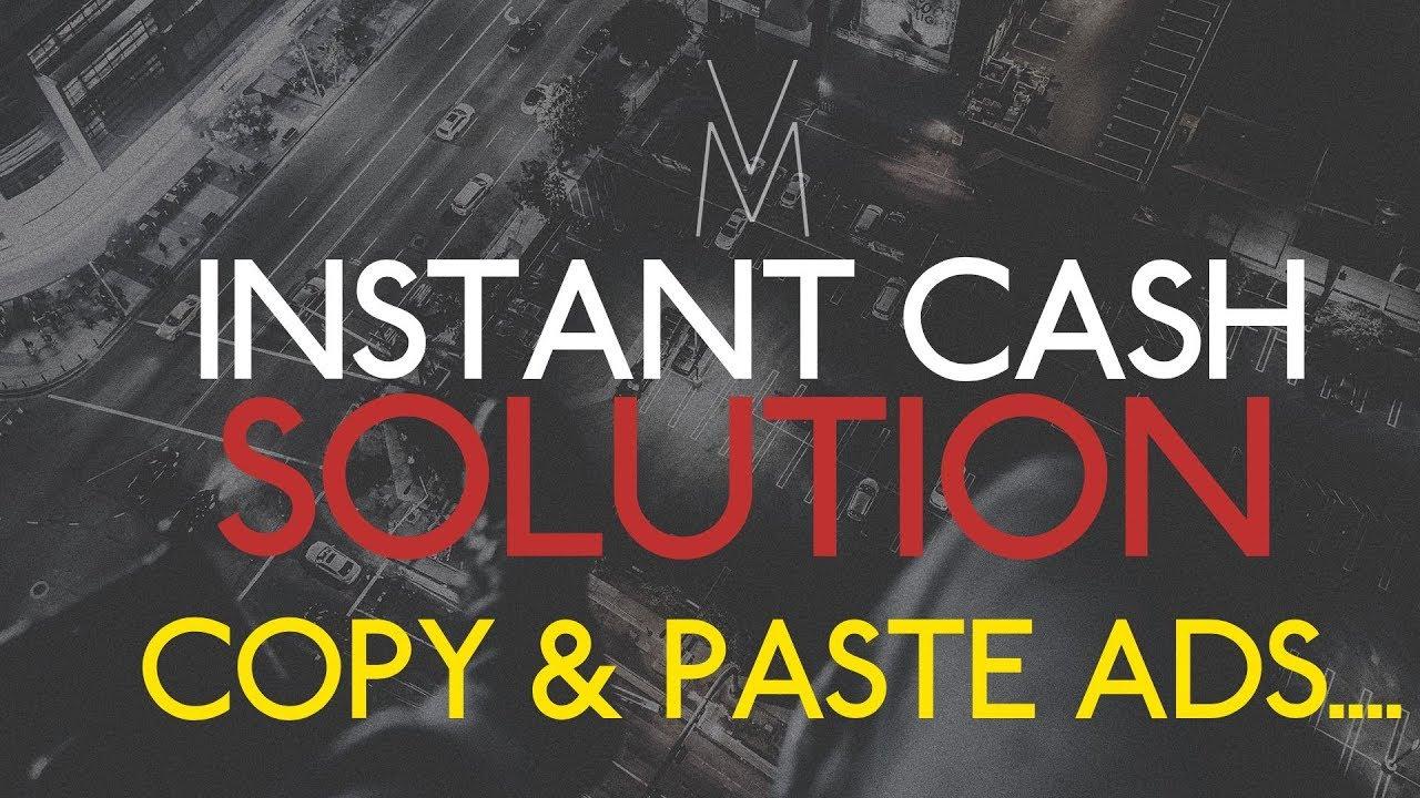 Instant Cash Solution Review Webinar 2019- Copy and Paste Ads- Make Money Online Affiliate Marketing