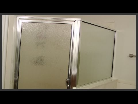 Shower door replacement - YouTube