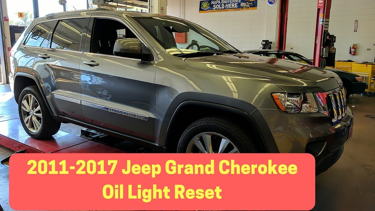 2011 2017 jeep grand cherokee oil change reset oil life reset [ 1280 x 720 Pixel ]
