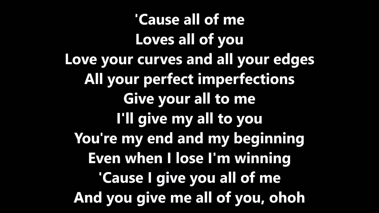 all of me john legend cover by luciana zogbi lyrics. Black Bedroom Furniture Sets. Home Design Ideas