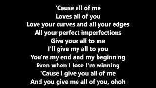 All Of Me (John Legend) Cover By Luciana Zogbi -Lyrics-