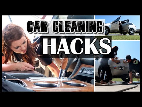 CAR CLEANING| HOW TO CLEAN YOUR CAR | CLEAN CAR HACKS