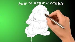 Как рисовать зайца how to draw a rabbit як намалювати зайця(Как нарисовать зайца - вот тема сегодняшнего видео так же можно изучить рисование зайца карандашом. С помощ..., 2016-02-26T13:36:05.000Z)