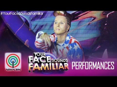 "Your Face Sounds Familiar: Maxene Magalona as Vanilla Ice - ""Ice Ice Baby"""